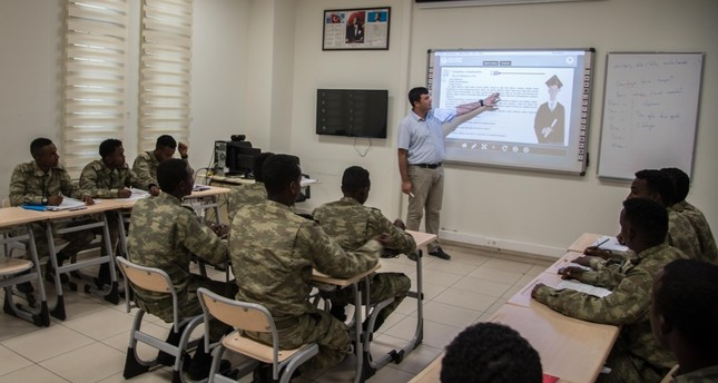 Apart from military training, Somali soldiers are also taught Turkish throughout the program.
