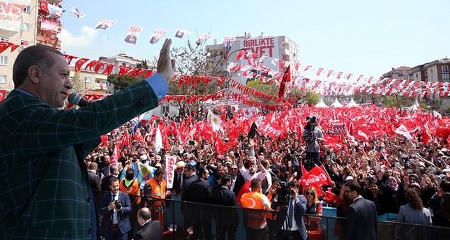 أردوغان: معارضة منظمات إرهابية للتعديلات الدستورية تؤكد سيرنا بالاتجاه الصحيح