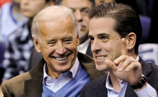 In this file photo, former U.S. Vice President Joe Biden and his son Hunter Biden attend an NCAA basketball game between Georgetown University and Duke University in Washington, U.S., January 30, 2010.Reuters Photo