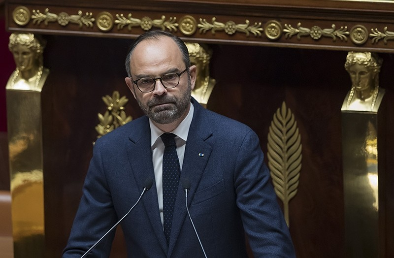 French Prime Minister Edouard Philippe attends a parliamentary debate over the government's fiscal measures for ecology, and resulting protests that have erupted across the country, in Paris, France, Dec. 5, 2018. (EPA Photo)