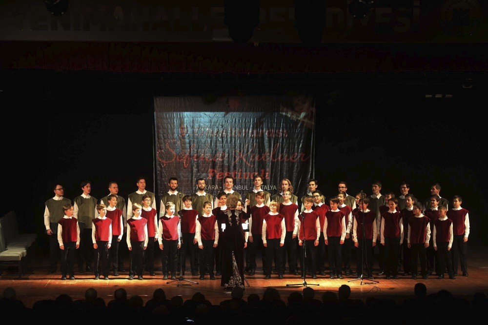 The Bratislava Children's Choir gives a concert at the opening of the festival.
