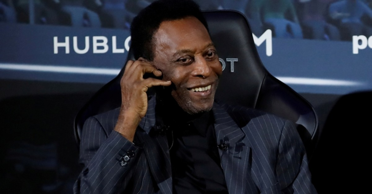 Pele seen at an event in Paris, April 2, 2019. (Reuters Photo)