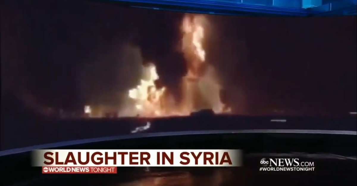 Screengrab shows the fake footage ABC News used for its report.