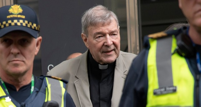 Cardinal George Pell leaves the County Court in Melbourne, Australia, Tuesday, Feb. 26, 2019. (AP Photo)