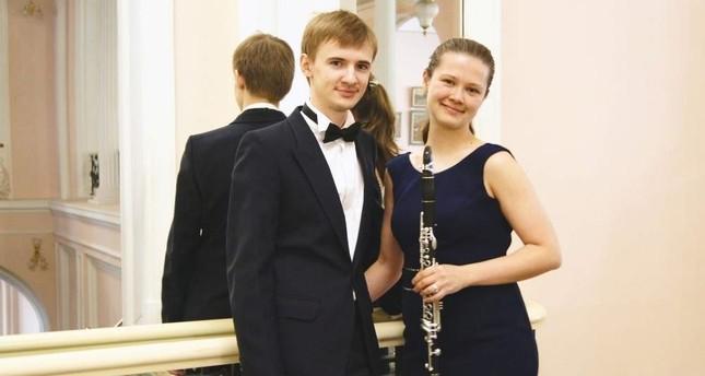 The Weber Duo consists of Ruzalia Kasimova (left) on the clarinet and Igor Androsov on the piano.