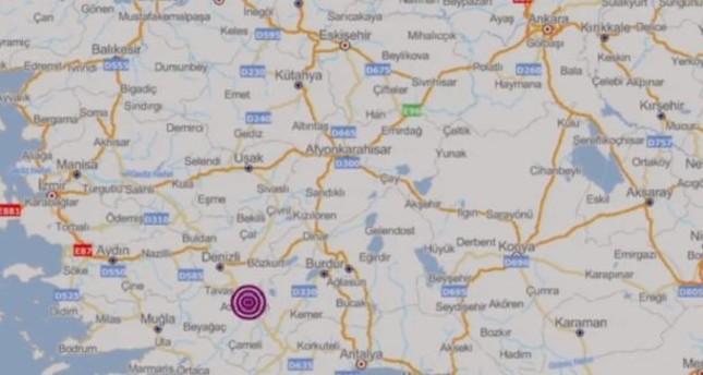 تركيا.. زلزال بقوة 4.9 درجات يضرب ولاية دنيزلي غربي البلاد