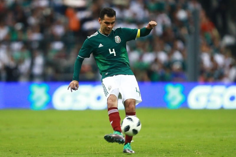 Rafael Marquez of Mexico kicks the ball during an international friendly match between Mexico and Scotland at Estadio Azteca in Mexico City, Mexico, June 2, 2018. (Hector Vivas/Getty Images/AFP)