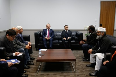 Oktay and Çavuşoğlu meet with Federation Chairman Faruk (AA Photo)