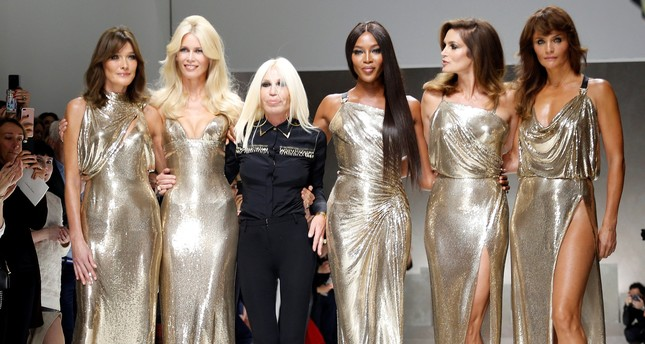 Golden Girls: Campbell, Schiffer and Crawford return to the runway for Versace