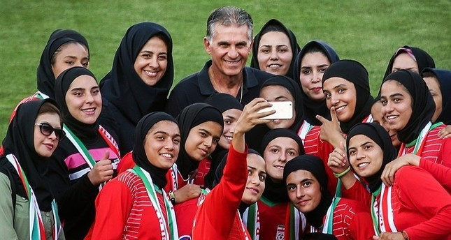 47969a63e47 Iranian women s football team to play in national stadium for first time in  4 decades - Daily Sabah