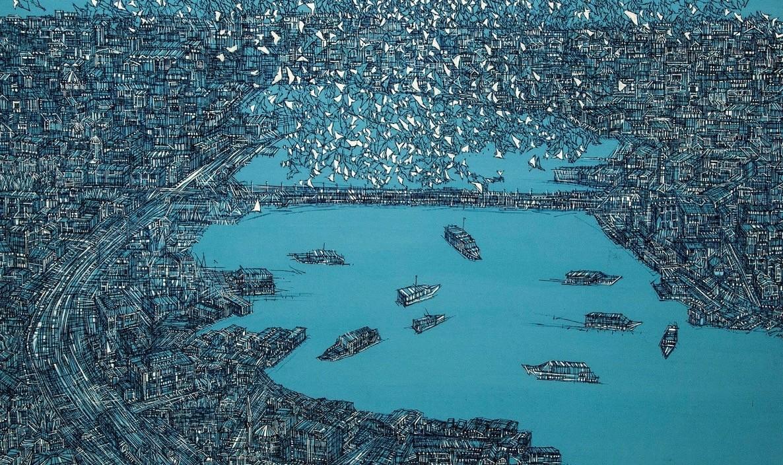 Devrim Erbil is known for his elaborate Istanbul panoramas.