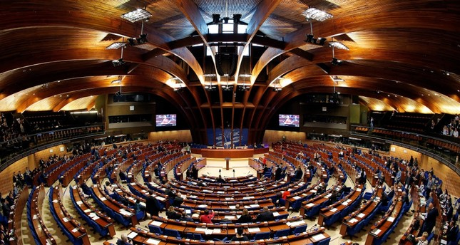 Members of the Parliamentary Assembly of the Council of Europe taking part in a debate on decision to monitor Turkey, April 25.