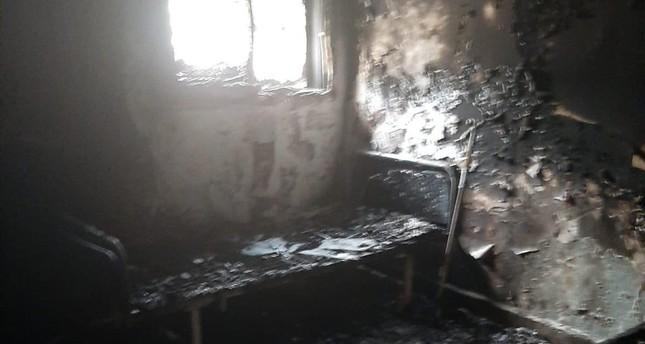 وزارة الدفاع التركية: إرهابيو ي ب ك يحرقون أجهزة مستشفى تل أبيض