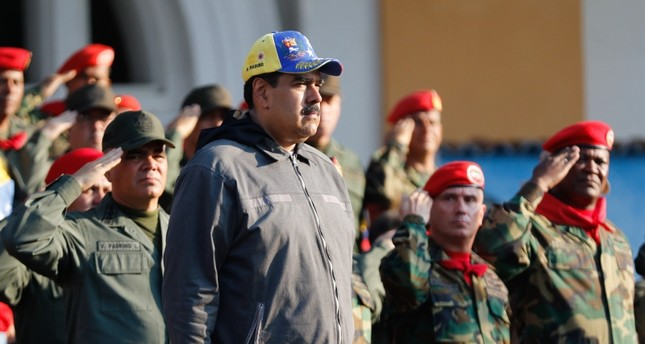 Venezuelan President Nicolas Maduro attends a military ceremony to commemorate the 27th Anniversary of the Military Rebellion of the 4FEB92 and National Dignity Day, in Caracas, on February 4, 2019 (AFP Photo)