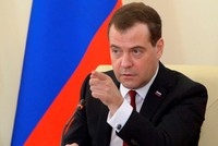 Russian Prime Minister Medvedev warns US against further sanctions