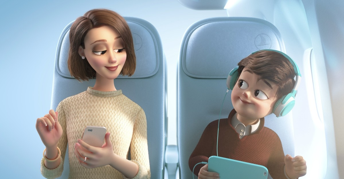 In the new safety video for Turkish Airlines, animation studio Lighthouse is said to have rendered only passengers and important objects in vivid colors, helping passengers to direct their attention to important safety features.