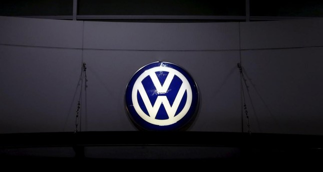 A logo of Volkswagen is illuminated at a dealership in Seoul, South Korea, November 25, 2015. (REUTERS Photo)