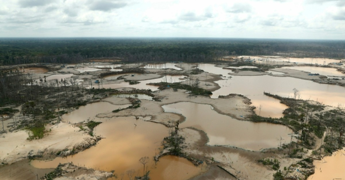 Peruvian jungle devastated by wild cat gold miners is seen from the air in Madre de Dios, Peru, March 5, 2019