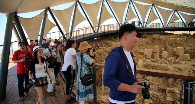 South Korean tourists visiting the ancient temple of Göbeklitepe in Turkey's Şanlıurfa province (AA File Photo)