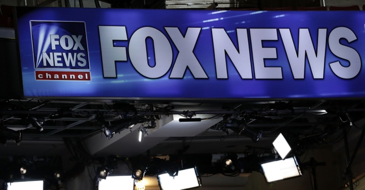 In this file photo taken on July 24, 2016, a booth of Fox News is seen at the Wells Fargo Center in Philadelphia, Pennsylvania, one day before the start of the Democratic National Convention. (AFP Photo)