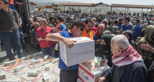 Turkey's disaster response agency distributes aid in Syria