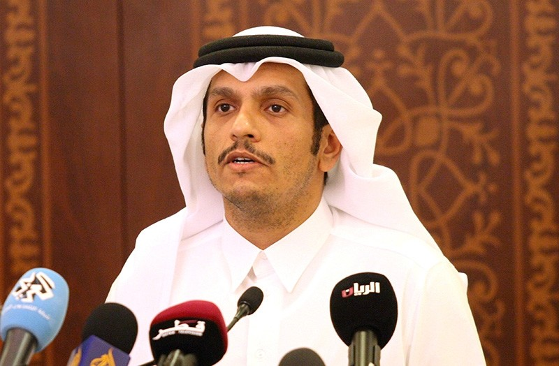 Qatar's Foreign Minister Sheikh Mohammed bin Abdulrahman al-Thani attends a news conference in Doha, Qatar, May 25, 2017. (Reuters Photo)