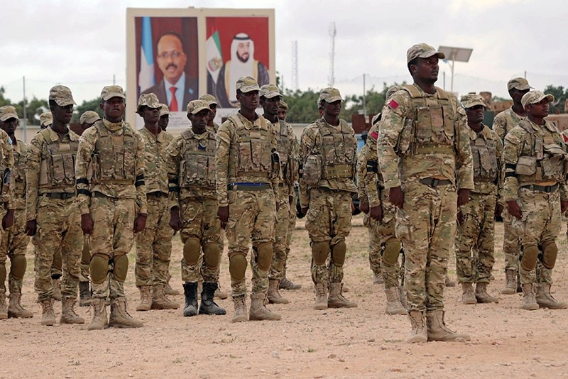 Somali military officers attend a training program by the United Arab Emirates (UAE) at their military base in Mogadishu, Somalia November 1, 2017. (Reuters Photo)