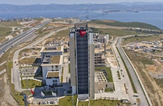An aerial view of the IT Valley in Gebze district in the industrial province of Kocaeli in northern Marmara.