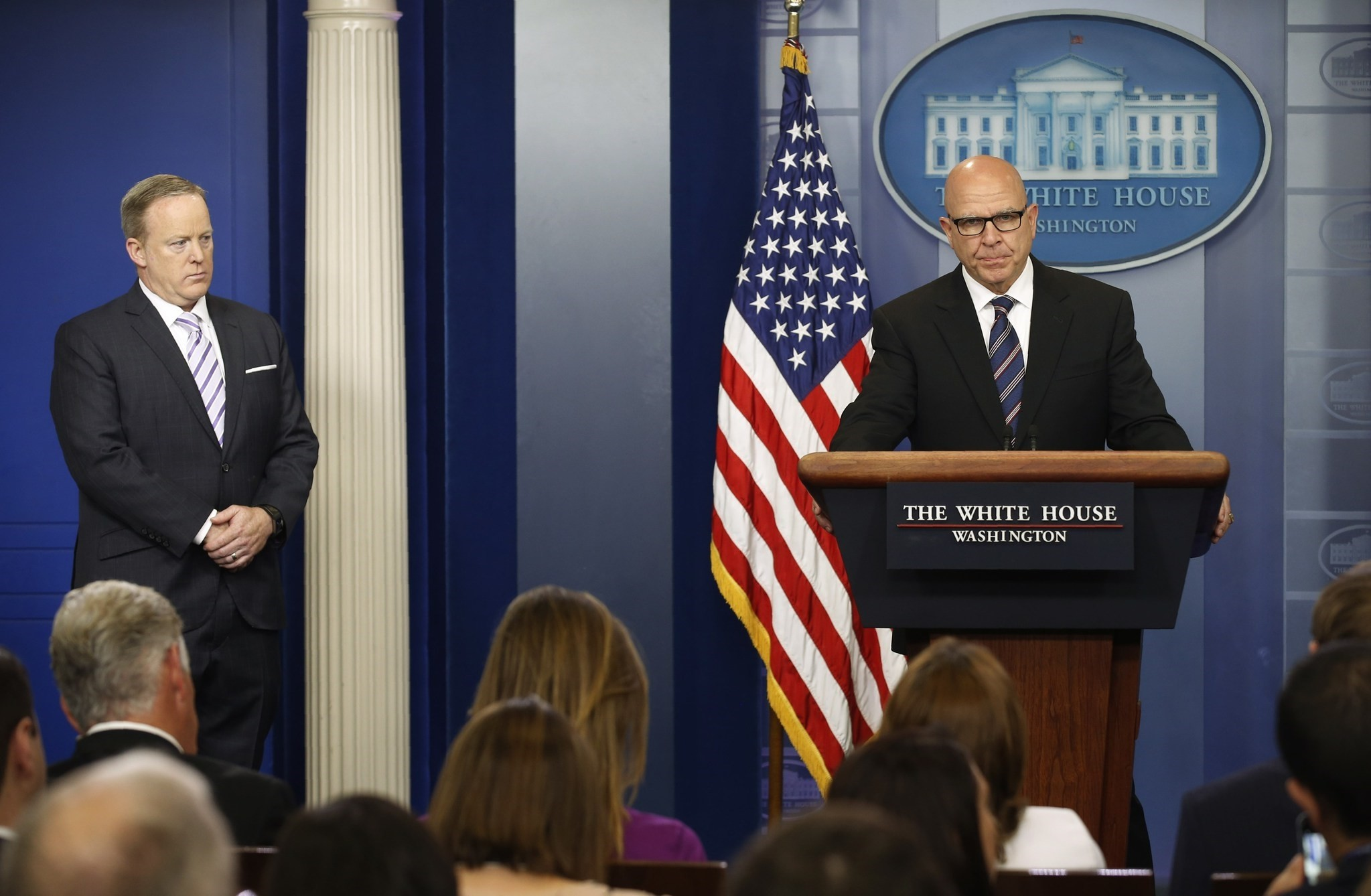 U.S. National Security Advisor H.R. McMaster speaks to reporters in the briefing room at the White House in Washington, U.S. May 16, 2017. (REUTERS Photo)