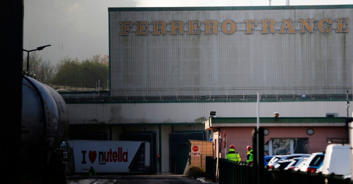 A file photo taken on November 27, 2018 shows the Ferrero plant in Villers-Ecalles, northwestern France. (AFP Photo)