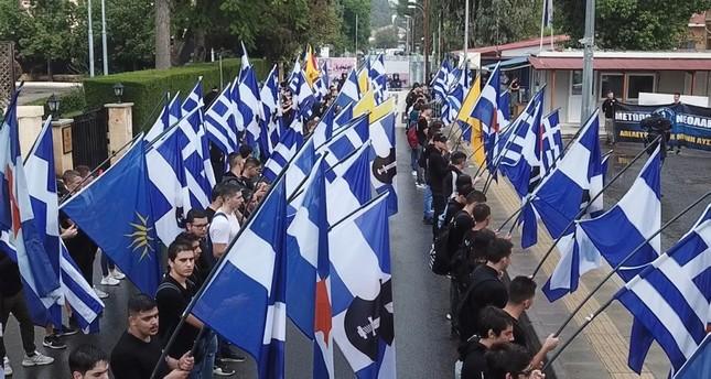 Greeks burn TRNC flag during foundation celebrations