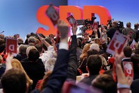 Germany's SPD convenes for critical vote on Merkel alliance