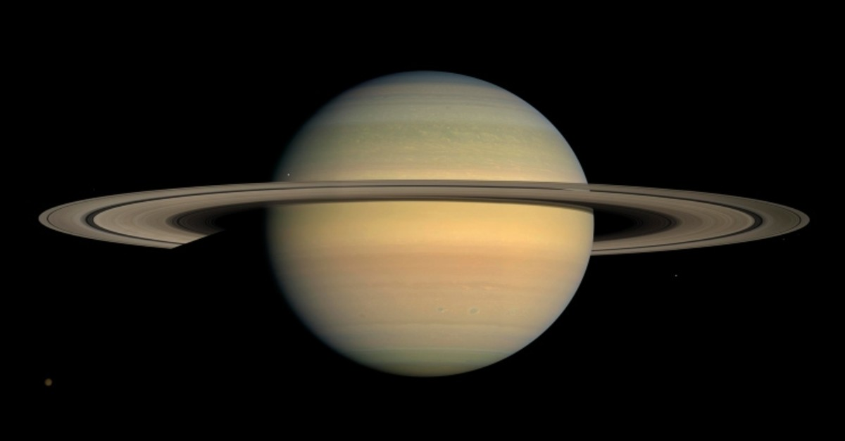 Twenty new moons have been found around Saturn, giving the ringed planet a total of 82, scientists said Monday, Oct. 7, 2019. (AP Photo)