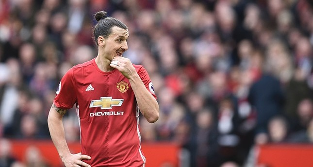 Manchester United's Swedish striker Zlatan Ibrahimovic gestures during the English Premier League football match between Manchester United and Bournemouth at Old Trafford in Manchester, north west England, on March 4, 2017. (AFP Photo)