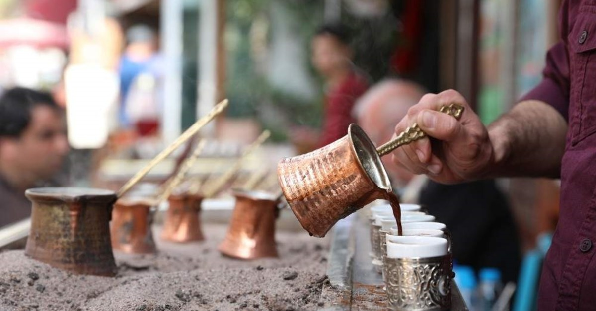 Turkish coffee is brewed in a special copper pot called a ,cezve., (iStock)