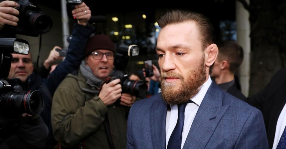 Conor McGregor leaves Dublin District Court in Dublin, Friday, Nov. 1, 2019. (Brian Lawless/PA via AP)