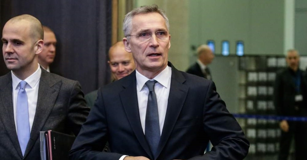 NATO Secretary-General Jens Stoltenberg attends a NATO defense ministers meeting, Brussels, Feb. 13, 2020. (AFP Photo)