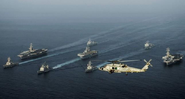 قطع بحرية أمريكية في بحر العرب (الفرنسية)