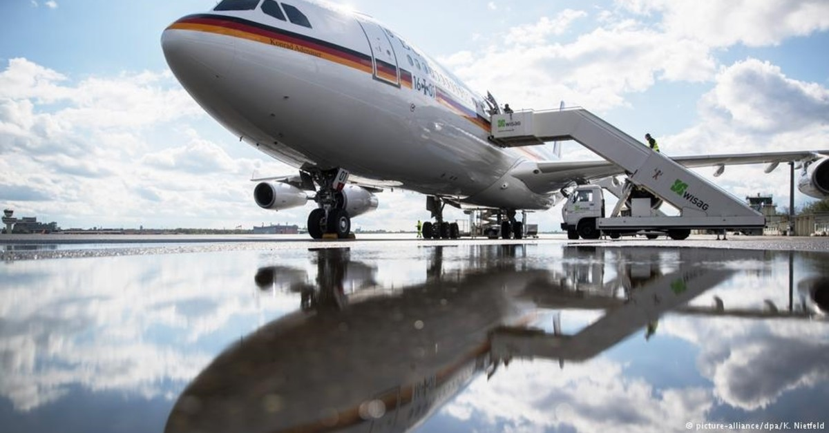 The German governmentu2019s u2018Konrad Adenaueru2019 Airbus A340-313 is one of the two diplomatic aircraft maintained by the Luftwaffe.