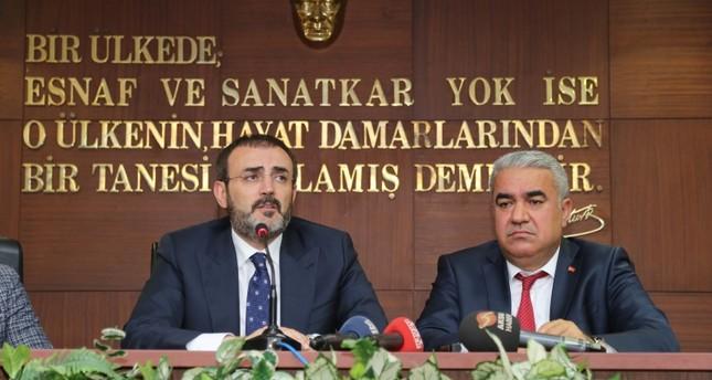 المتحدث باسم حزب العدالة والتنمية التركي ماهر أونال على المين الأناضول