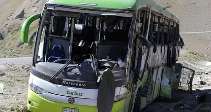 pA passenger bus has flipped over on an Andean highway in Argentina, killing 19 of the 42 people aboard, police said Saturday./p  pAnother 23 people were injured in the accident about 745 miles...