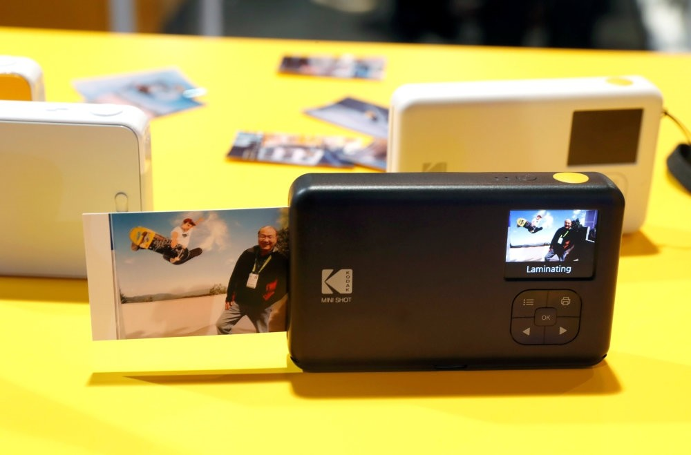 The KODAK Mini Shot Instant Camera during the 2018 CES in Las Vegas.