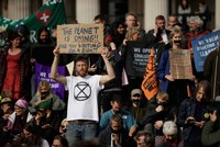 Extinction Rebellion protesters disrupt London rail services