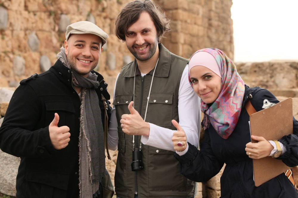 Bayazid (R) is the mastermind behind Lebanon-born Swedish R&B singer Maher Zain's (L) music videos.