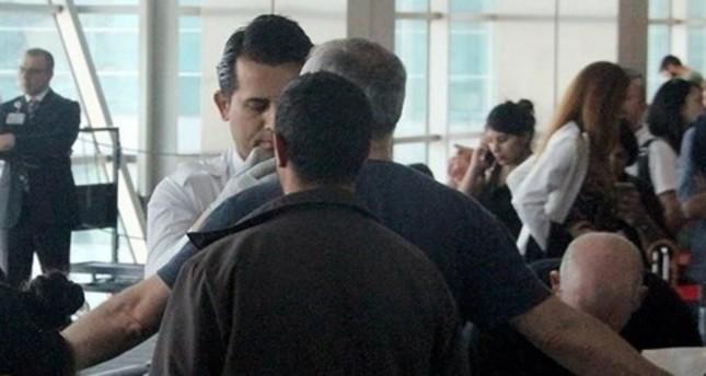 أثناء تفتيش السفير الإسرائيلي في مطار اسن بوغا بأنقرة