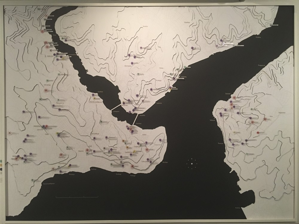 SALT Research produced the u201cMap of Women Patronsu2019 Structures in Ottoman Istanbul for the Commissionersu2019 Exhibition on display until Nov. 26.