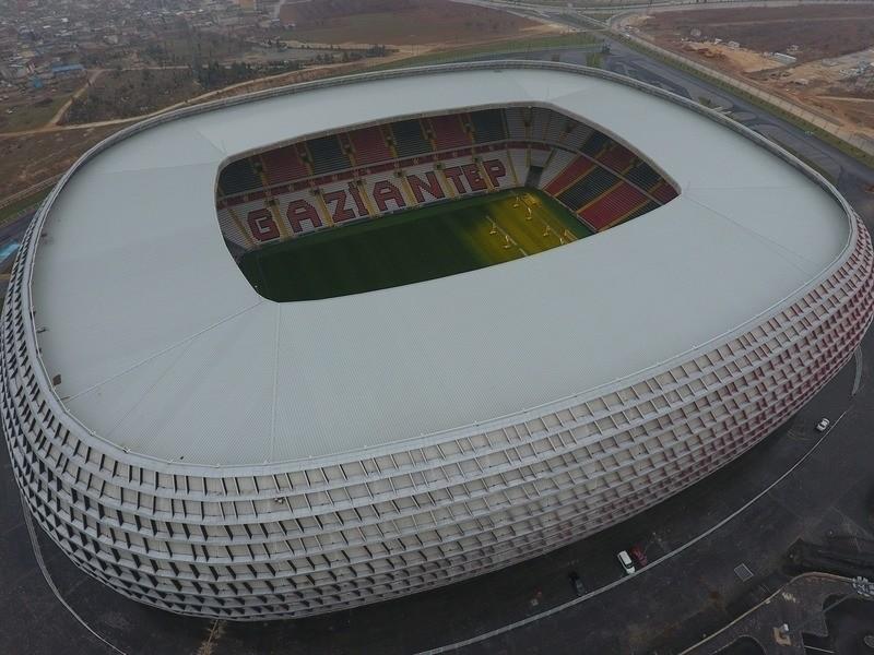 An aerial view of Gaziantep Stadium. (IHA Photo)