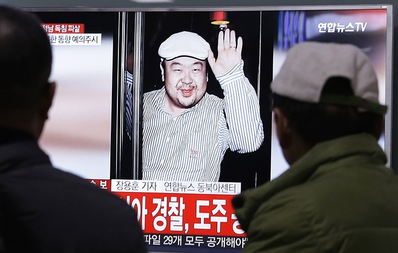 In this Tuesday, Feb. 14, 2017, file photo, a TV screen shows a picture of Kim Jong Nam, the older brother of North Korean leader Kim Jong Un, at the railway station in Seoul, South Korea. (AP Photo)