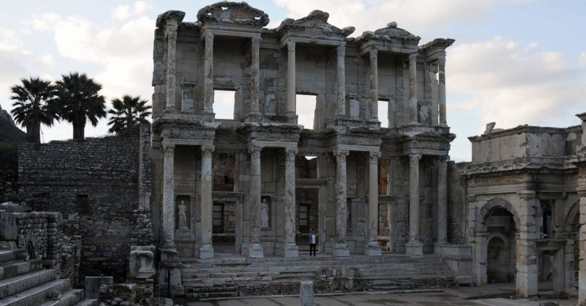 Library of Celsus in the ancient city of Ephesus. (AA Photo)