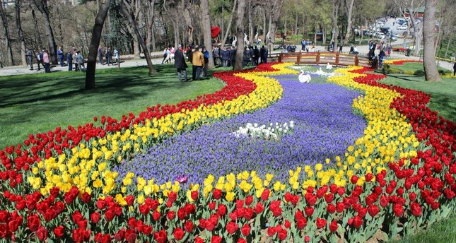 The festival began at Emirgan Grove where millions of tulips were planted.